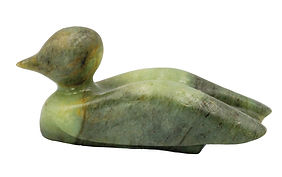 Loon Carving Rubble Road Soapstone