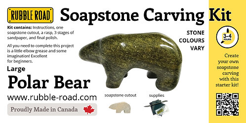 Polar Bear Large Soapstone Carving Kit