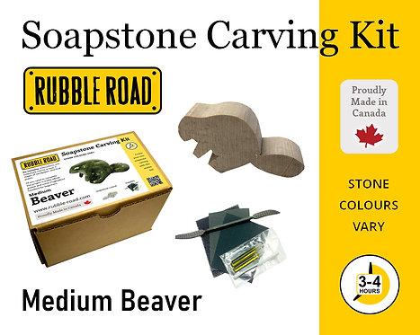 Beaver Medium Soapstone Carving Kit