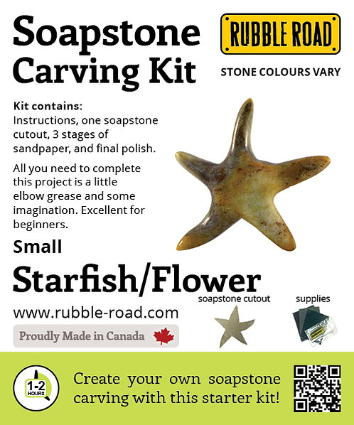 Starfish Small Soapstone Carving Kit