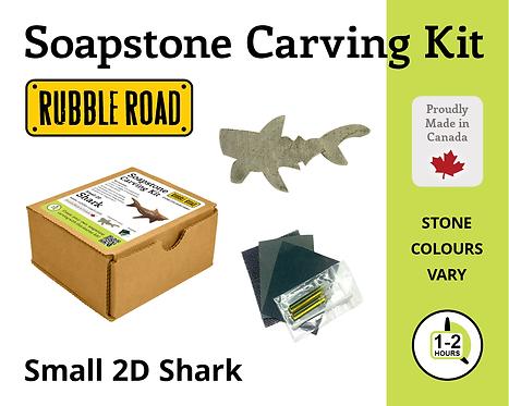 Shark Small Soapstone Carving Kit