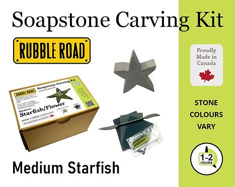 Starfish Medium Soapstone Carving Kit