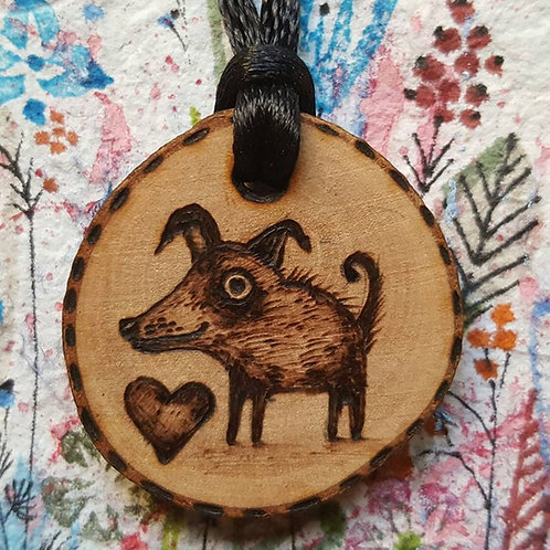 "Necklace ""Doggie Love"""