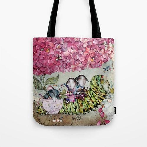 """Pink Hydrangea Tea"", design Tote Bag"