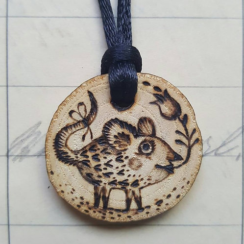 """Necklace """"Mouse Bold"""""""