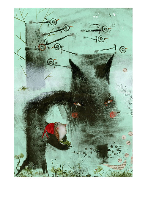 """ Stories of the Black Wolf"" (limited edition prints)"
