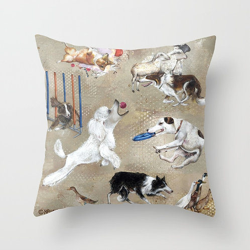 Working Dogs -Throw Pillow