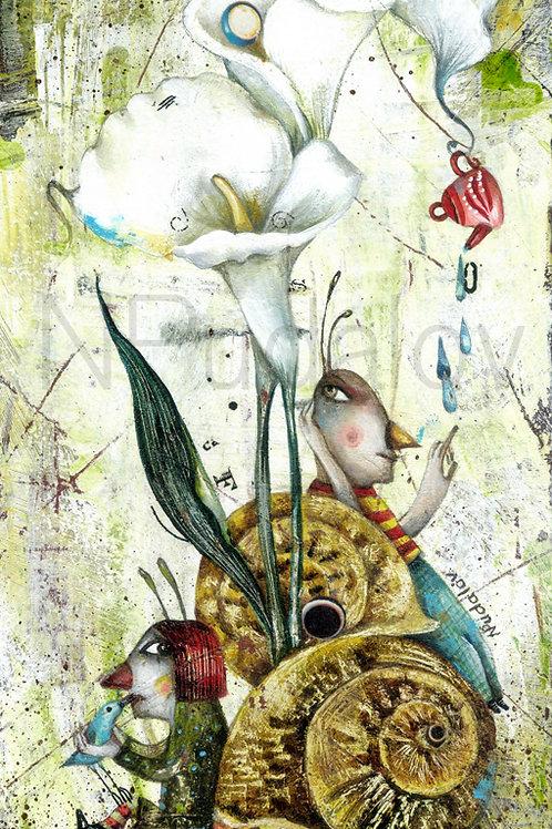 Siblings-Snails (original art)
