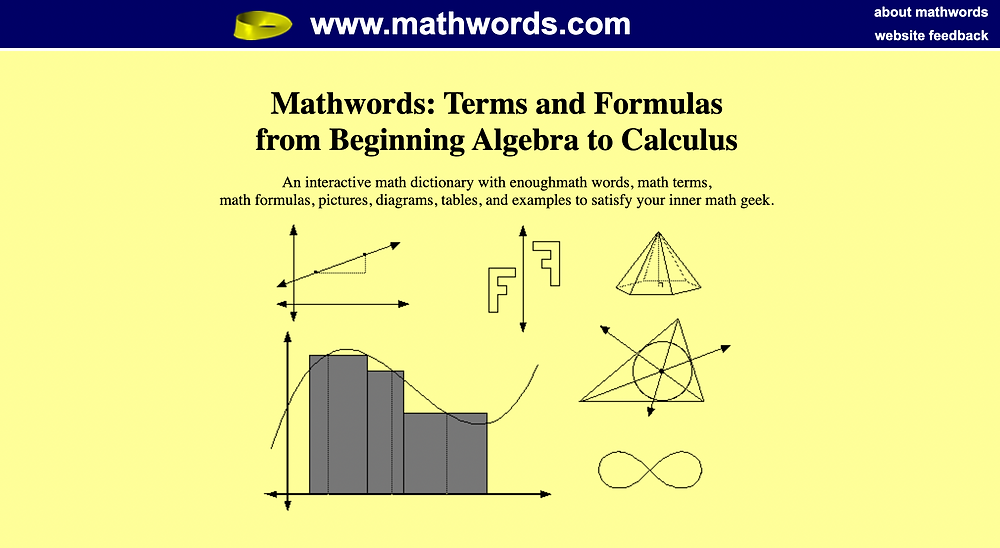 Online math dictionary for secondary school tutors in Singapore