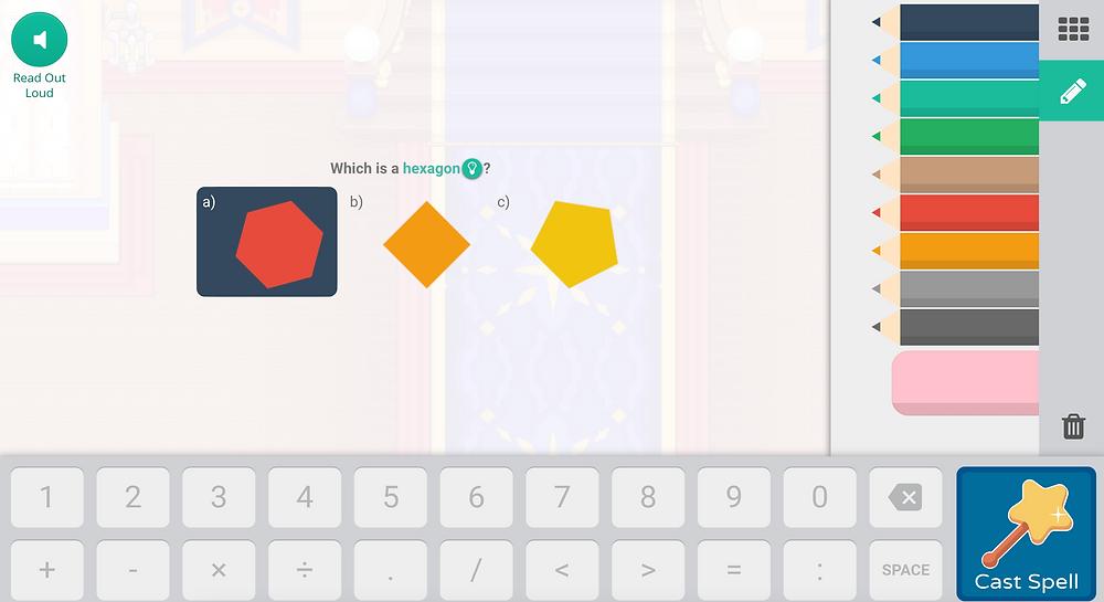 Screenshot of Prodigy math game questions