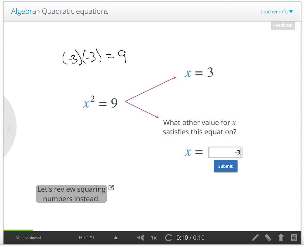 School Yourself interactive lesson to teach quadratics to secondary school students in singapore