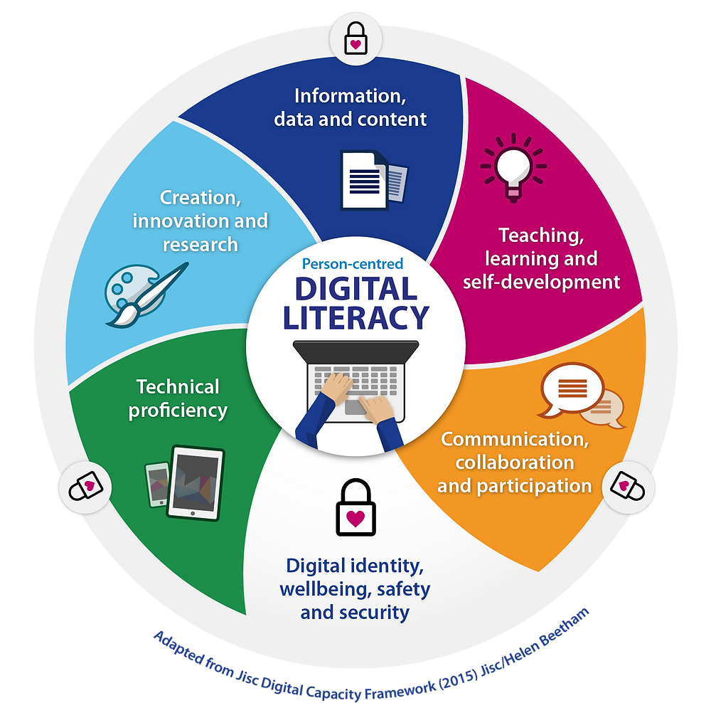 What is digital literacy infographic
