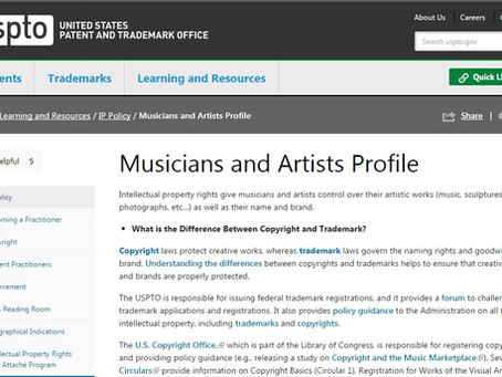 Intellectual Property Protection for Musicians