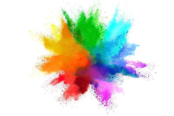 explosion-colored-powder-white-backgroun