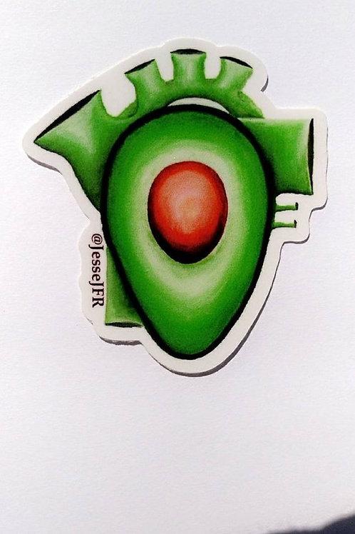 Avocado Heart - sticker