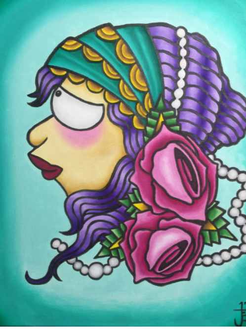 """""""I gave Leela a pearl necklace"""" -Large Print"""