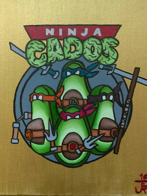 """Ninja Cados"" - Original oil painting"
