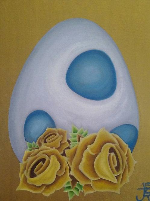 Blue Yoshi Egg - Print