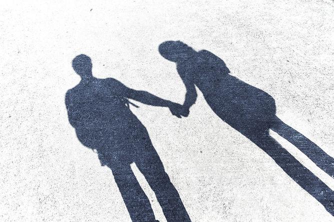 Paar Schatten Beziehungshilfe