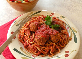 "SPAGHETTI WITH ""MEATBALLS"""
