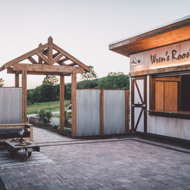 Arbor Outdoor area Wrens Roost Barn Wedding Event Venue Naples NY Finger Lakes