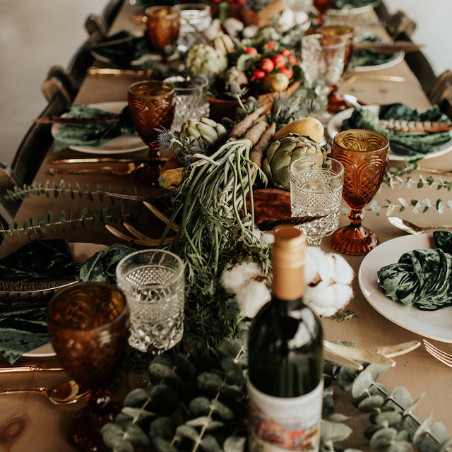 Table Setting at Wrens Roost Barn Wedding Event Venue Naples NY