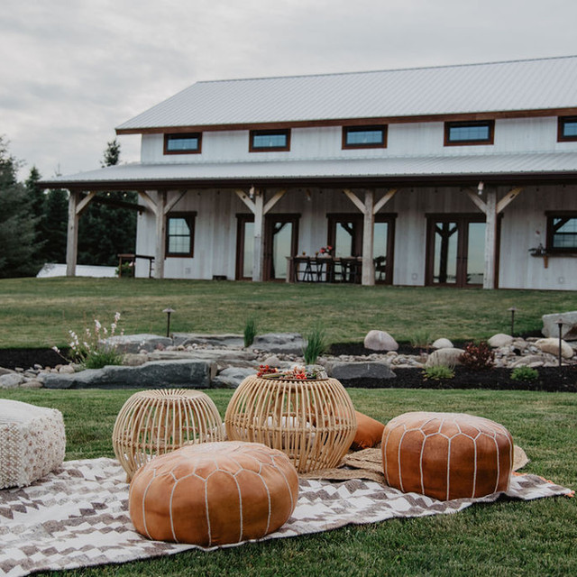 Exterior view of Wrens Roost Barn Wedding Event Venue Naples NY Finger Lakes New York area