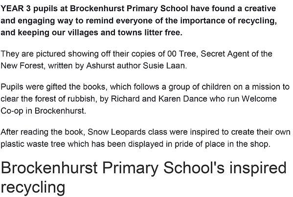 YEAR 3 pupils at Brockenhurst Primary Sc