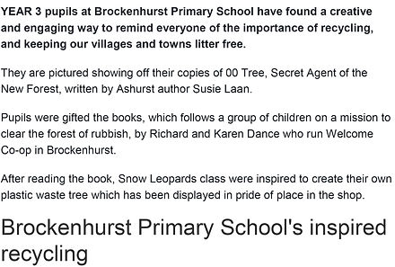 YEAR 3 pupils at Brockenhurst Primary School have found a creative and engaging way to rem