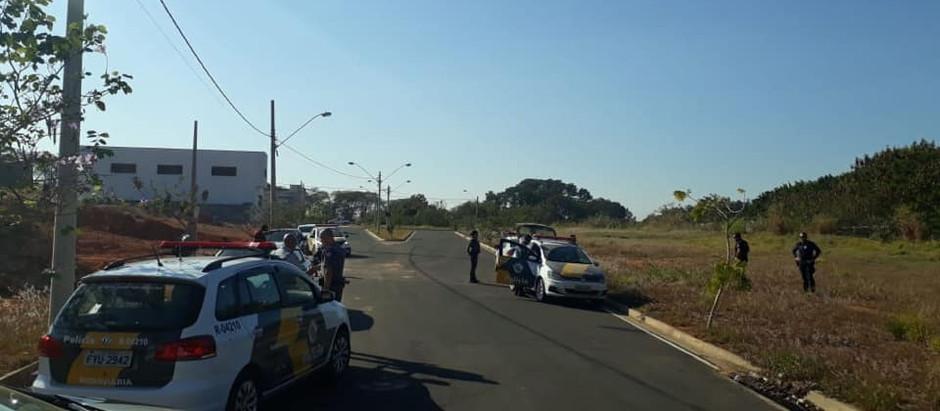 Perseguição policial acaba em prisão de ladrão de combustível em Holambra