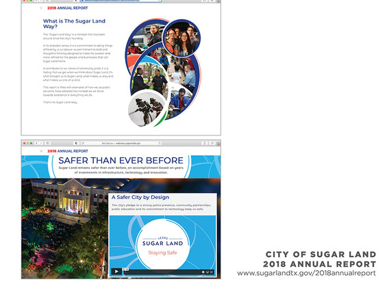 2018 Sugar Land Annual Report - Inside Page Examples