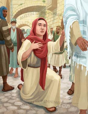 Bible Illustrations - Bleeding Woman