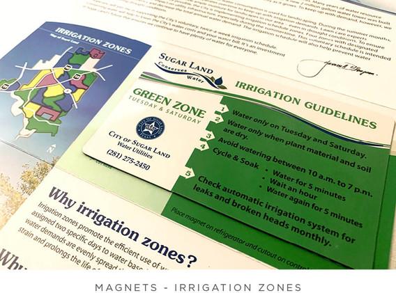 Irrigation Zones - Brochure and Magnet - Inside Detail