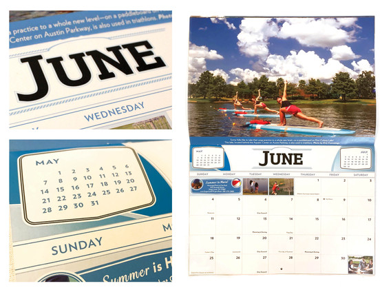 2017 Sugar Land Calendar - June Spread