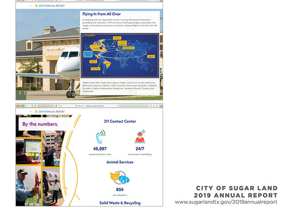 2019 Sugar Land Annual Report - Inside Page Examples