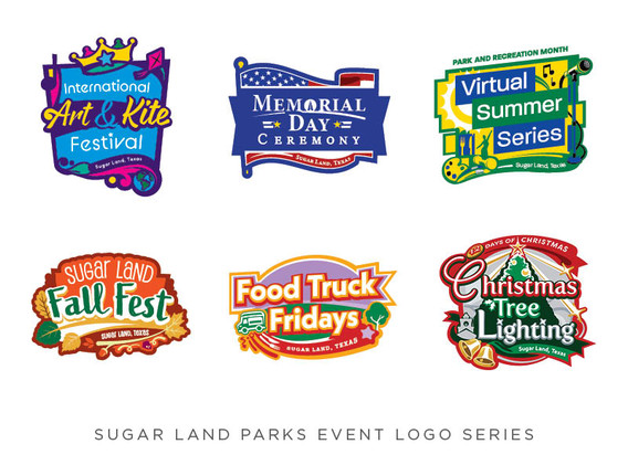 Sugar Land Parks Event Logo Series