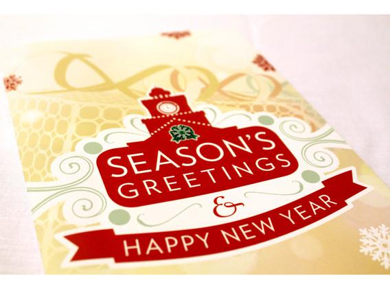 Season's Greetings Card - Cover Detail