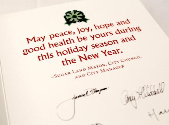 Season's Greetings Card - Inside Detail