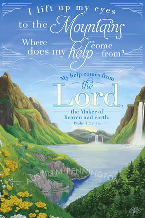 Bible Illustrations - Psalm 121:1-2 NIV
