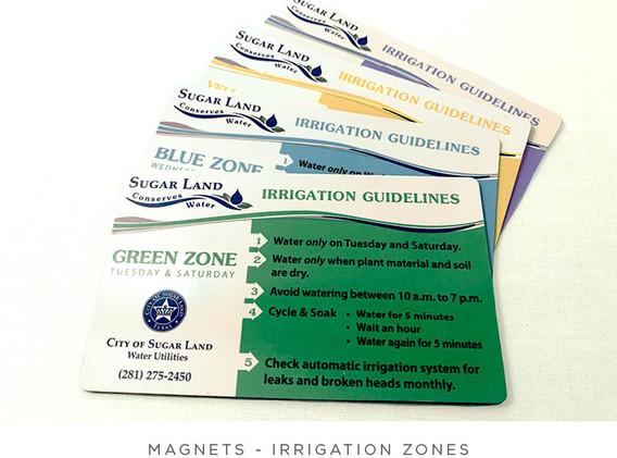 Irrigation Zones - Magnet Variations