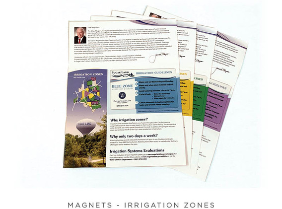 Irrigation Zones - Brochure and Magnet - Overview