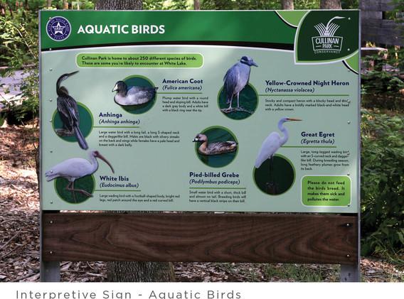 Interpretive Sign - Aquatic Birds
