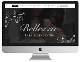 57 clicks web design - bellezza lash & beauty spa