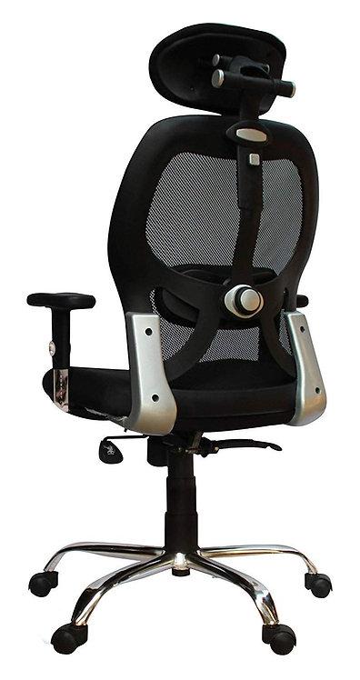 Apollo Plus Chrome Base & ARM HIGH Back Office Chair (Adjustable Chrome ARM)