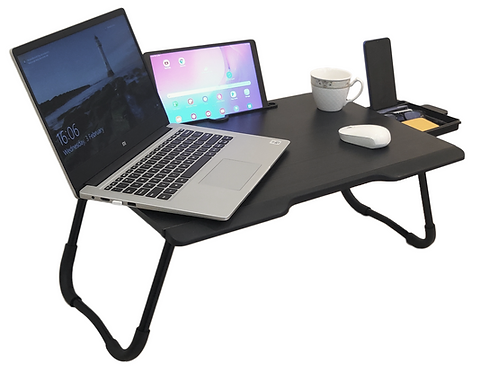 SAvya home lapdesk with drawer and round edge
