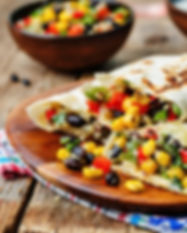 pepper corn black bean quinoa burritos o