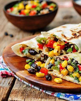 pepper corn black bean quinoa burritos o