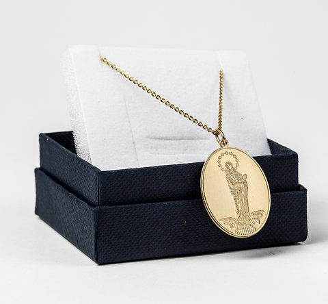 Medailon - pozlacené stříbro na řetízku