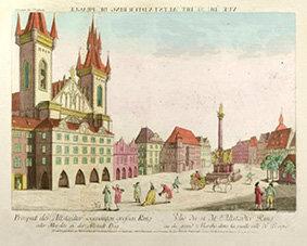 Magnet - Vyobrazení Mariánského sloupu na Stroměstském náměstí