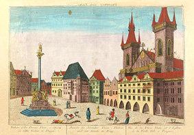 Magnet - Pohled na východní stranu Staroměstského náměstí, Josef Carmine (18. st